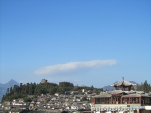 Lijiang city and sky