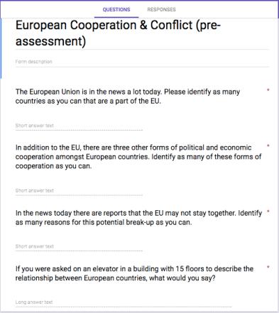 EU pre-assessment